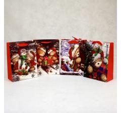 Пакет подарочный 24*18*8 см, Мишки