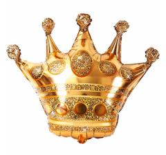Шар (34''/86 см) Фигура, Корона, Золото