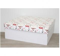 Коробка подарочная 350*350*150 мм, дизайн 2020-6 белое дно