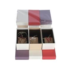Коробка подарочная,красная, h 5,5cm l13cm d 7,6cm