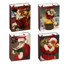 Пакет подарочный 18*24*8 см ,Санта Клаус
