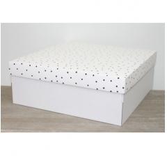 Коробка подарочная 350*350*150 мм, дизайн 2020-7 белое дно