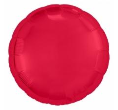 Шар (18''/46 см) Круг, Красный