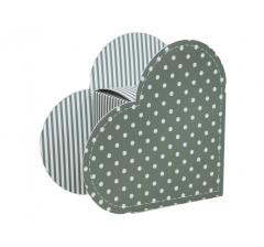 Коробка в форме сердца 20*22*9 см, дизайн 22