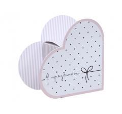 Коробка в форме сердца 20*22*9 см, дизайн 23