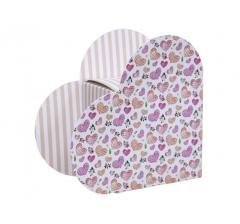 Коробка в форме сердца 20*22*9 см, дизайн 25