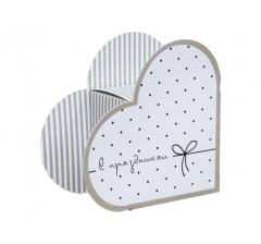 Коробка в форме сердца 20*22*9 см, дизайн 26