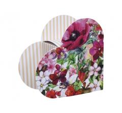 Коробка в форме сердца 20*22*9 см, дизайн 29