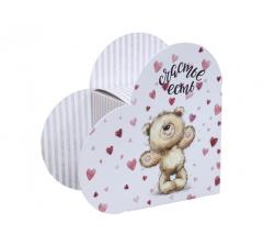 Коробка в форме сердца 20*22*9 см, дизайн 31