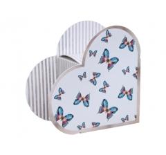 Коробка в форме сердца 20*22*9 см, дизайн 32