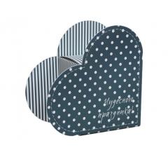 Коробка в форме сердца 20*22*9 см, дизайн 39