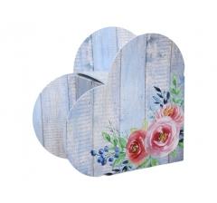 Коробка в форме сердца 20*22*9 см, дизайн 34
