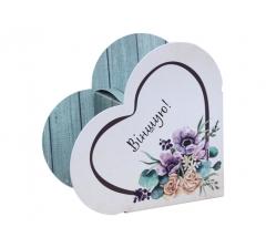 Коробка в форме сердца 20*22*9 см, дизайн 41