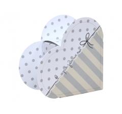 Коробка в форме сердца 20*22*9 см, дизайн 19