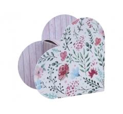 Коробка в форме сердца 20*22*9 см, дизайн 43