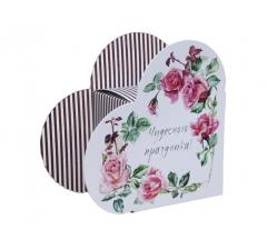Коробка в форме сердца 20*22*9 см, дизайн 35