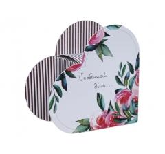 Коробка в форме сердца 20*22*9 см, дизайн 36
