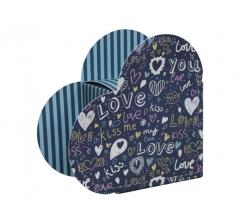 Коробка в форме сердца 20*22*9 см, дизайн 20
