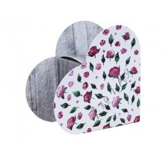 Коробка в форме сердца 20*22*9 см, дизайн 44