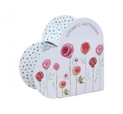 Коробка в форме сердца 20*22*9 см, дизайн 45