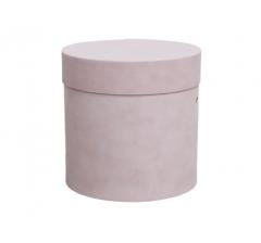 Коробка бархатная-люкс, d-150, h-150, розовая
