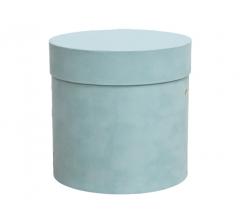 Коробка бархатная-люкс, d-200, h-200, бирюзовая