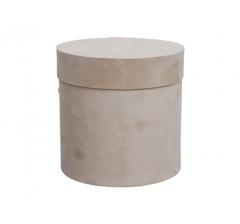 Коробка бархатная-люкс, d-150, h-150, бежевая