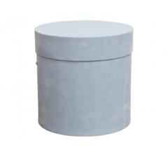 Коробка бархатная-люкс, d-200, h-200, голубая