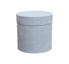 Коробка бархатная-люкс, d-150, h-150, голубая