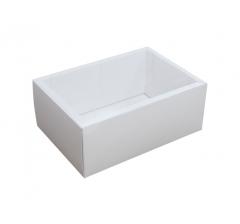 Коробка 200*140*80 мм с прозрачной крышкой, белое дно