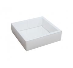 Коробка 175*175*50 мм с прозрачной крышкой, белое дно