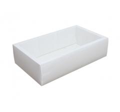 Коробка 310*180*80 мм с прозрачной крышкой, белое дно
