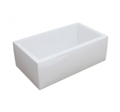 Коробка 320*180*110 мм с прозрачной крышкой, белое дно