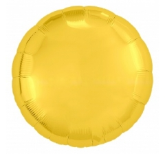 Шар (18''/46 см) Круг, Золото