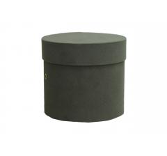 Коробка бархатная-люкс, d-110, h-120, серая