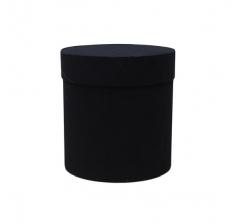 Коробка бархатная-люкс, d-110, h-120, черная
