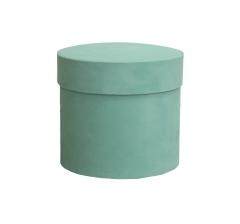 Коробка бархатная-люкс, d-110, h-120, мятная