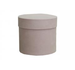Коробка бархатная-люкс, d-110, h-120, розовая