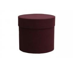 Коробка бархатная-люкс, d-110, h-120, бордовая