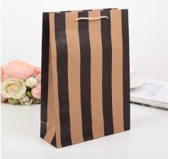 Крафт пакет, чёрная полоска, размер 32*8,5*23 см