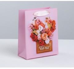 Пакет подарочный, Арт.3680579, размер 12*15*5,5 см