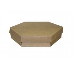 Коробка шестигранная 190*45 мм, крафт