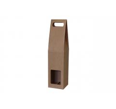 Коробка-переноска с окном 90*90*380 мм, крафт