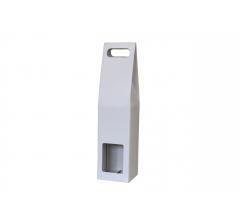 Коробка-переноска с окном 90*90*380 мм, белая