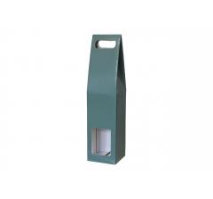 Коробка-переноска с окном 90*90*380 мм, зеленая