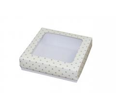 Коробка подарочная 150*150*40 мм, дизайн 19