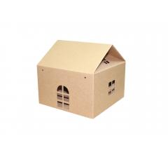 Коробка-домик 245*245*150 мм (без крыши), крафт