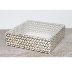 Коробка с прозрачной крышкой 175*175*50 мм, дизайн 2020-18 , с цветным дном
