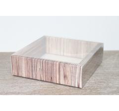 Коробка с прозрачной крышкой 175*175*50 мм, дизайн 2020-21 , с цветным дном