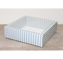 Коробка с прозрачной крышкой 175*175*50 мм, дизайн 2020-15, с цветным дном